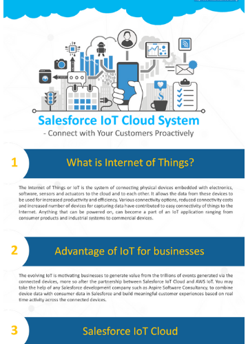 Salesforce IOT Cloud System | Offshore Software Development Company
